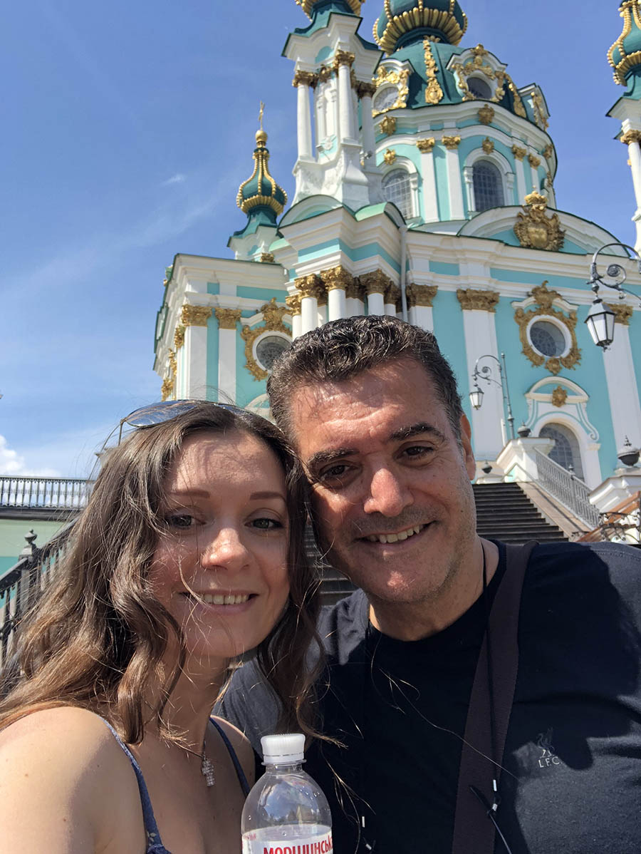 This picture shows the Kiev Pechersk Lavra tour with private guide Alyona