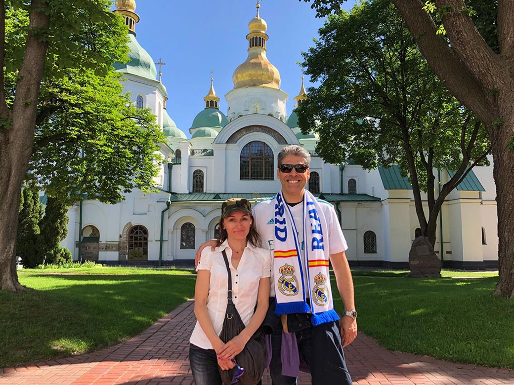 This picture shows the Kiev Pechersk Lavra tour with private guide Tatiana
