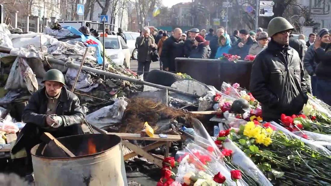 Kiew und Revolutionen. Regierung Teil der Stadt
