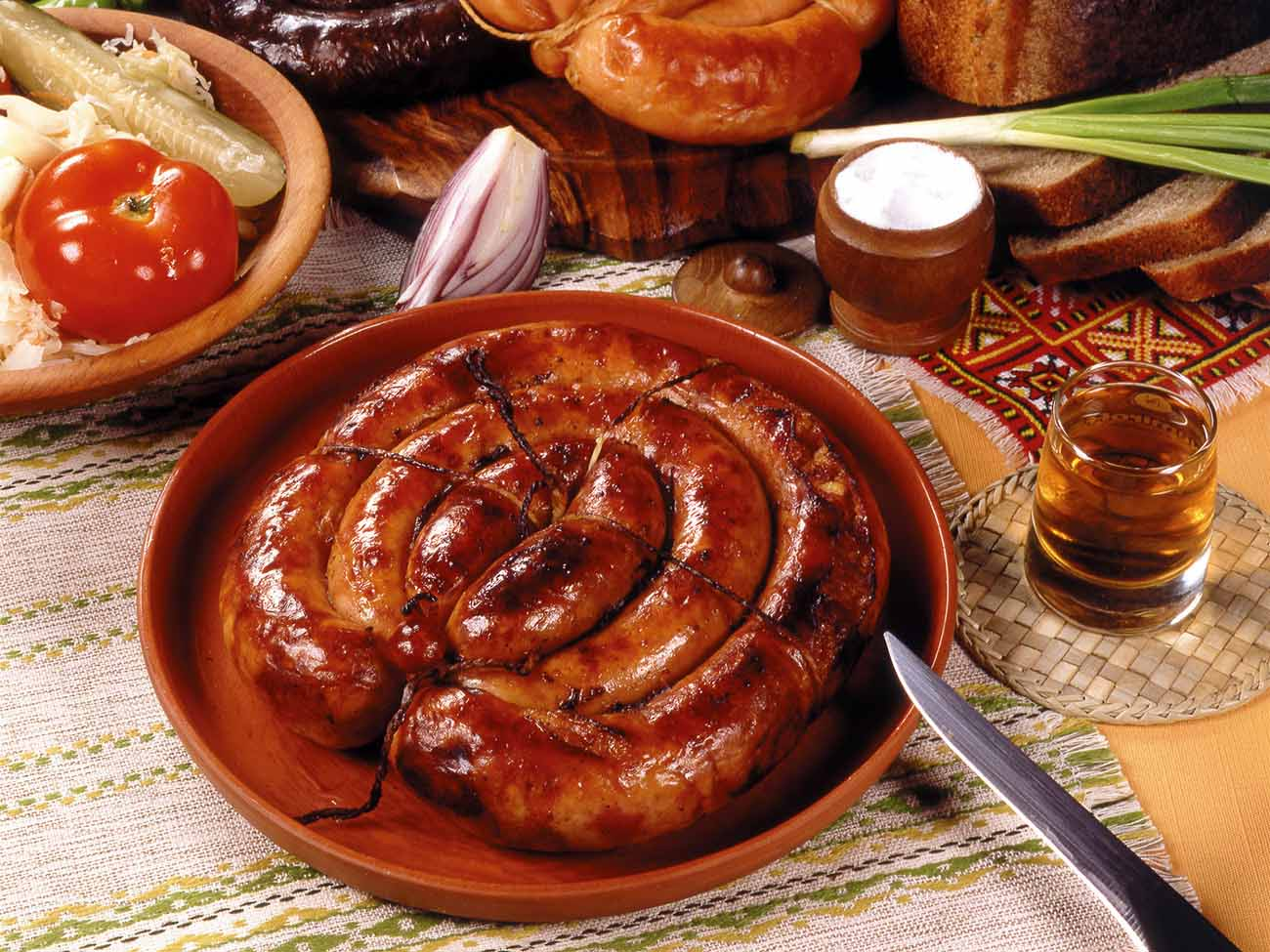 ukrainian homemade sausage