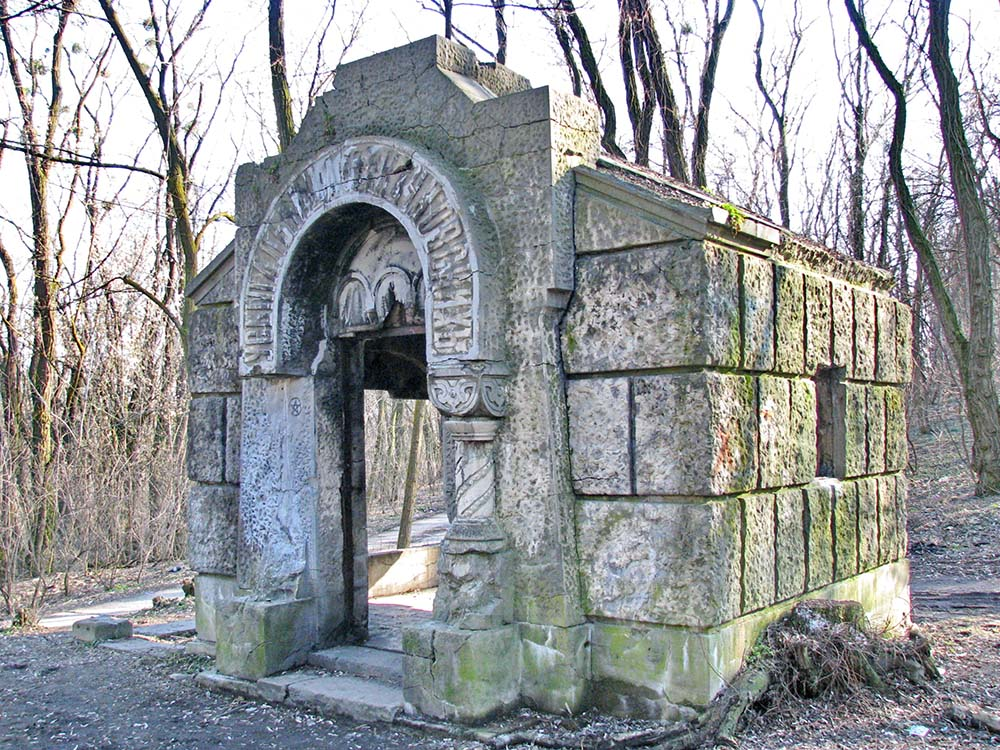 The crypt in the Kirilovskii forest park